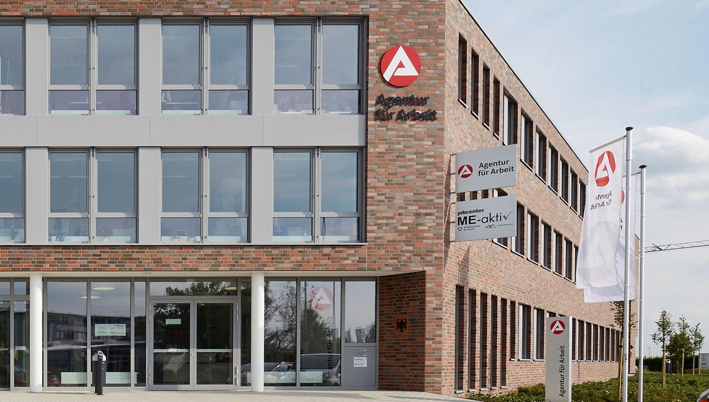 Agentur für Arbeit und Jobcenter Mettmann Gebäudefront