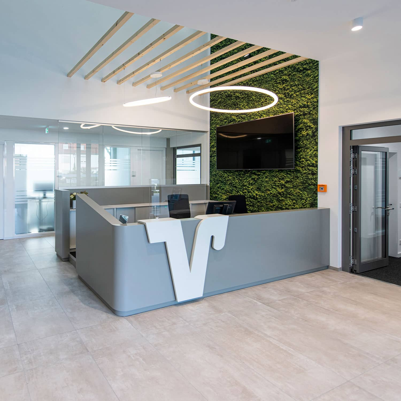 Foyer im Bürogebäude Winkelhaus