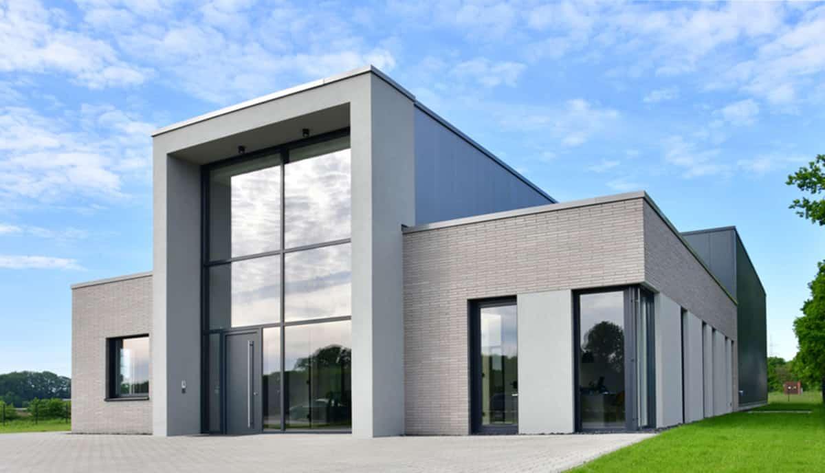 Bürogebäude Logistikhalle von HOFF und Partner für Theo Dreier Moden Gronau